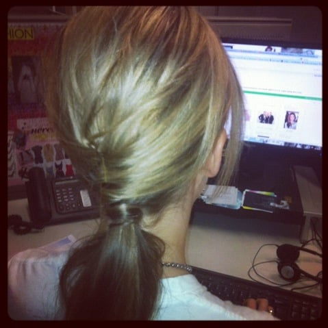 FabSugar ed Ali made this intricate ponytail look completley effortless!