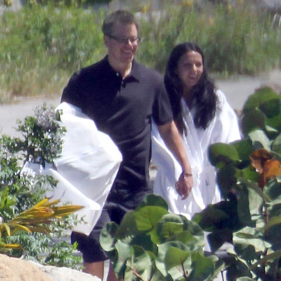 Matt and Luciana Damon Vow Renewal Pictures