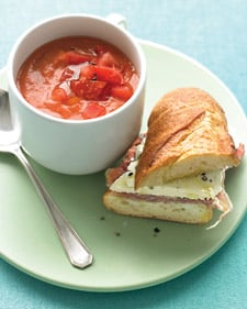 Summer Tomato Soup and Cheese Sandwich Recipe