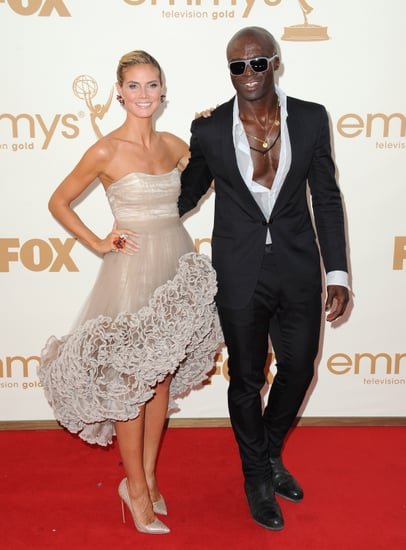 Heidi Klum and Seal at the Emmys.
