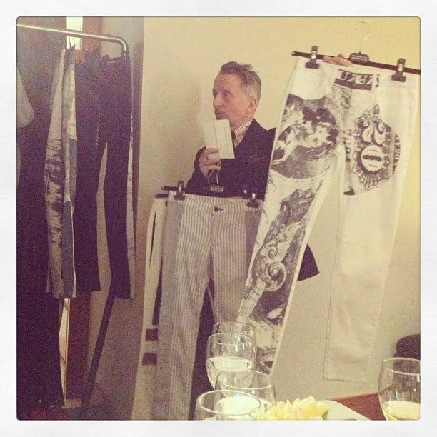 Simon Doonan offered up his printed-pant picks at Barneys New York.
