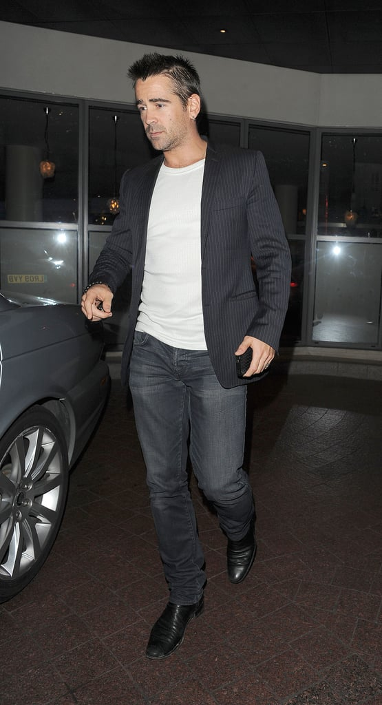 Colin Farrell was in attendance at a private screening of Total Recall in London.