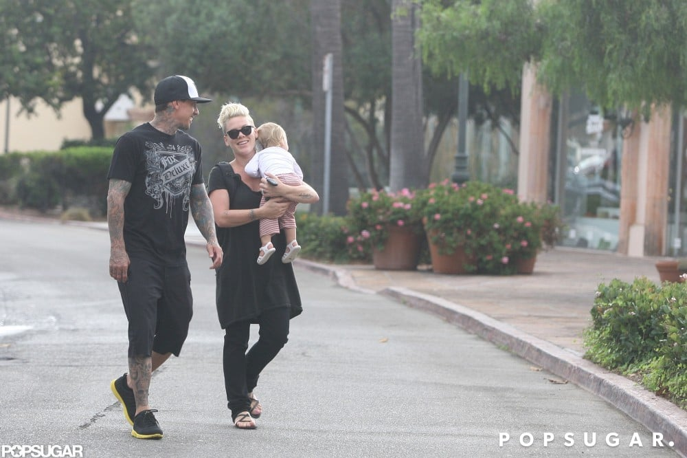 Pink Fits in Some Family Fun Between Intense Workouts