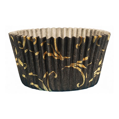 Cupcake Creations Baking Cups, Elegant Black 30-Pack | Chef Tools