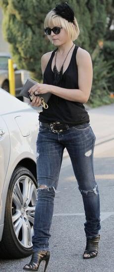 Mena Suvari in Holey Jeans in LA