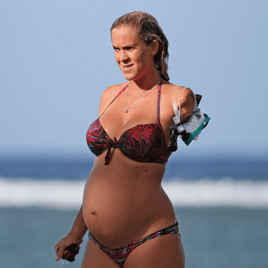 Bethany Hamilton Walking Her Dogs in a Bikini