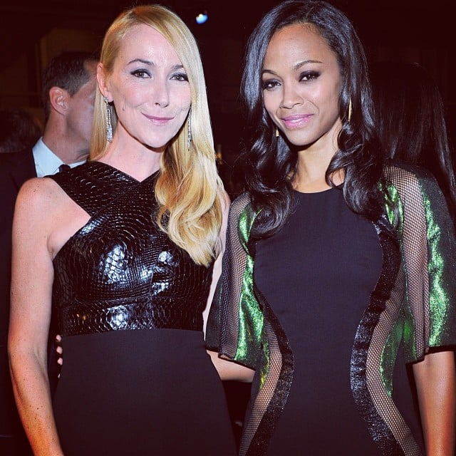 Zoe Saldana posed with Gucci creative director Frida Giannini at the LACMA Art and Film Gala. Source: Instagram user gucci