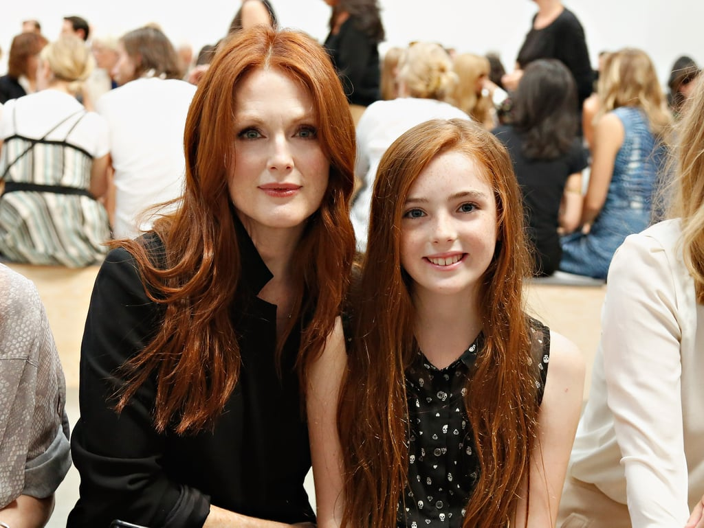 Julianne Moore had her mini-me, daughter Liv, with her at the Reed Krakoff show.