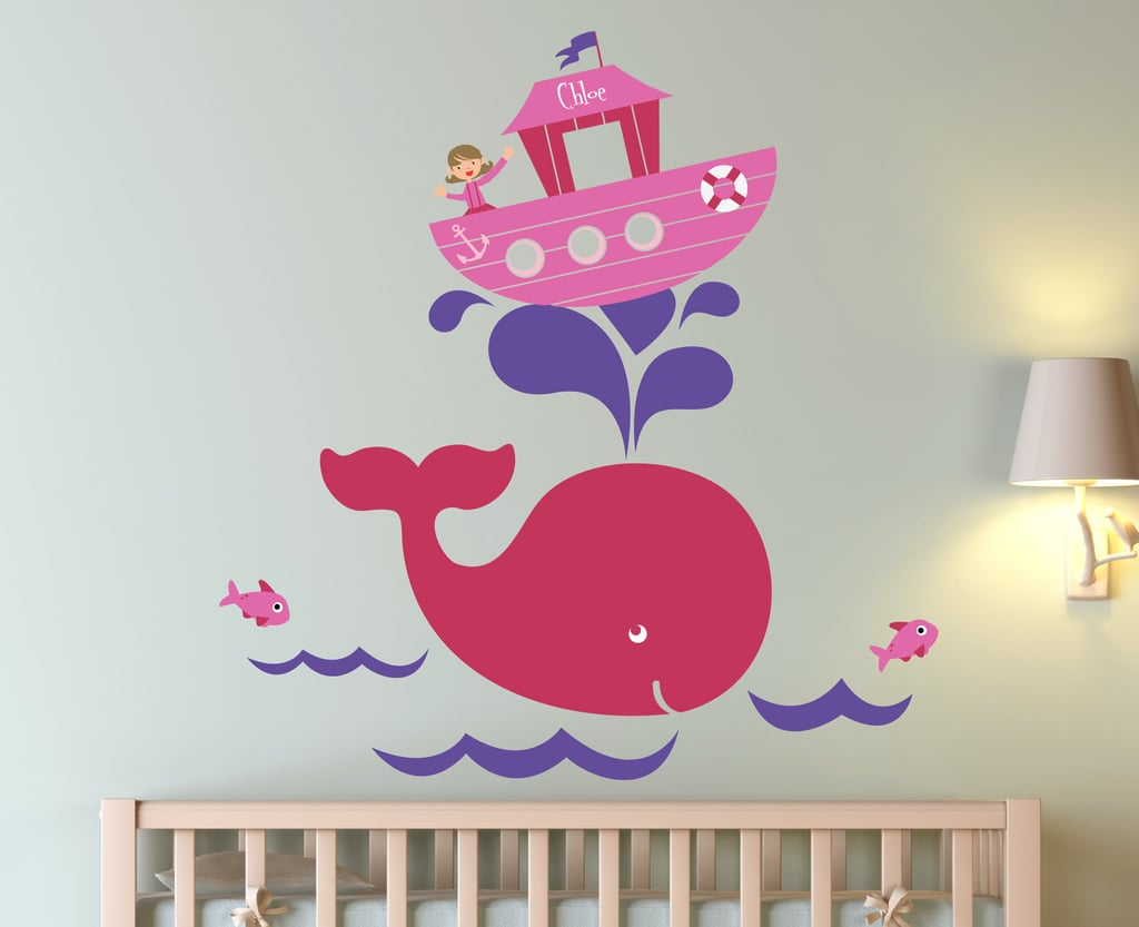 Personalized Whale Decal