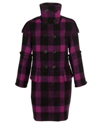 BURBERRY PRORSUM Checked Virgin Wool Coat