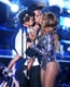 """Aug. 24: After Beyoncé's 16-minute performance at the MTV VMAs, Jay Z and Blue Ivy take the stage to present her with the MTV Video Vanguard Award. The couple shared a sweet kiss in front of the audience and during her acceptance speech, Beyoncé referred to Jay as """"my beloved."""" Beyoncé later shared a clip of her kiss with Jay Z on Instagram. Aug. 27: A tipster sent a nine-second video to Gawker showing Beyoncé and Jay Z (who can be seen carrying Blue) smooching backstage before Beyoncé's VMAs performance."""