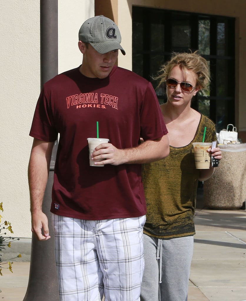 Britney Spears and her rumored new boyfriend, David Lucado, grabbed coffee together on Tuesday in LA.