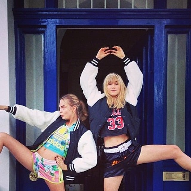 Suki Waterhouse and Cara Delevingne got silly. Source: Instagram user sukiwaterhouse