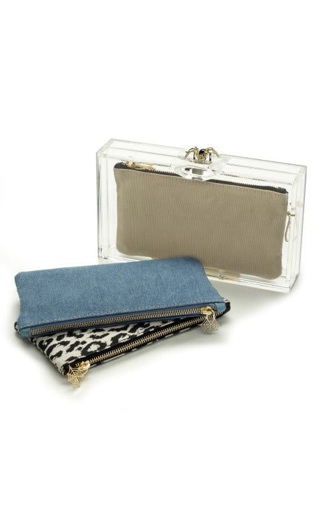 Pandora Clutch with Classic Inserts, $615