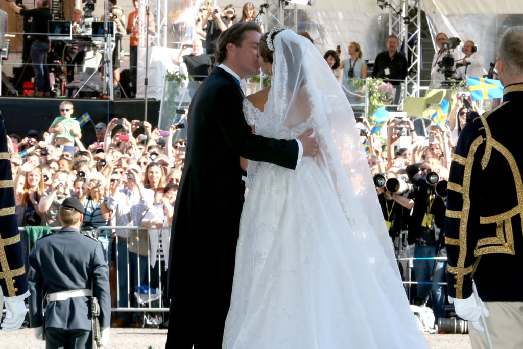 Princess Madeleine of Sweden and Christopher O'Neill kissed in front of the crowd.