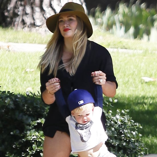 Hilary Duff and Mike Comrie at a Park With Luca