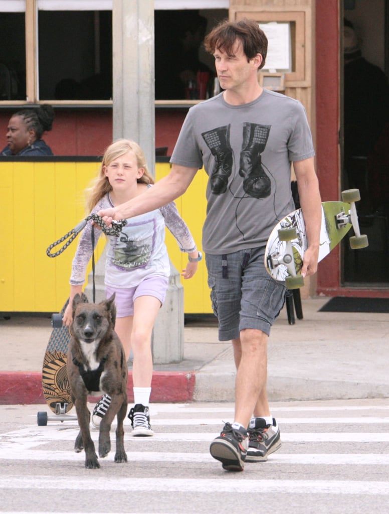 Stephen Moyer and daughter Lilac hung out around Venice, CA, in April 2012.