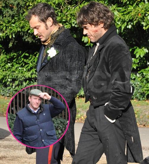 Pictures of Robert Downey Jr. and Jude Law Shooting Sherlock Holmes 2