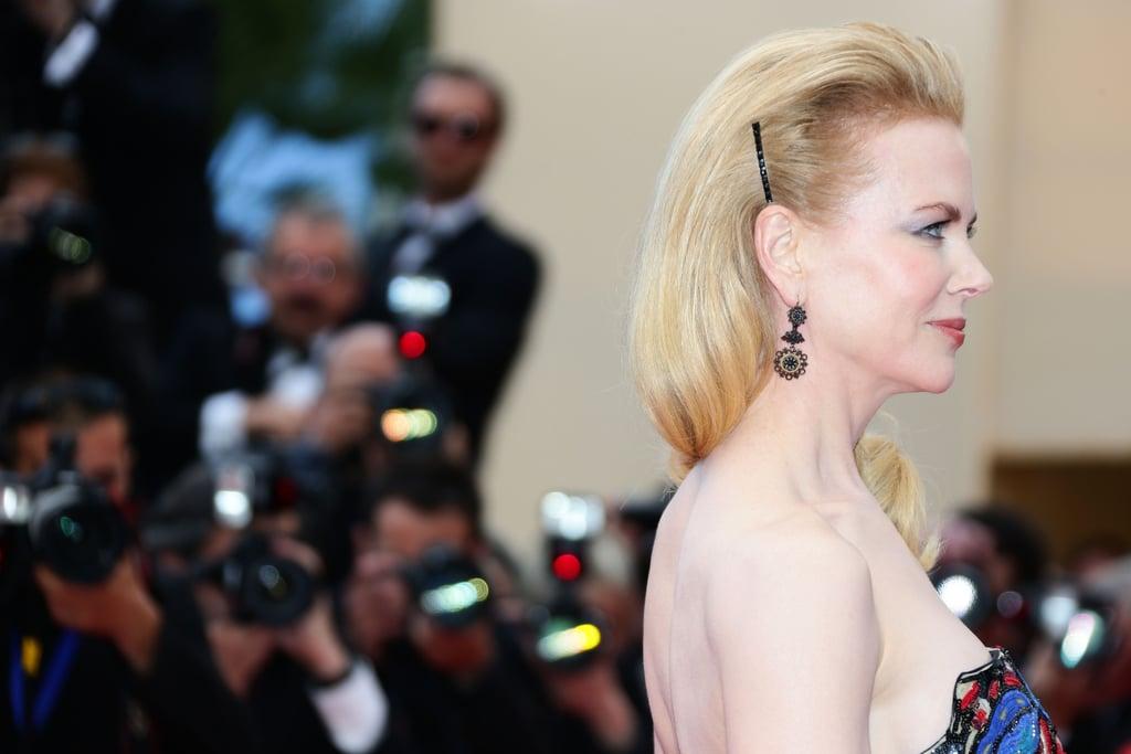 We loved Nicole's simple hair barrette.