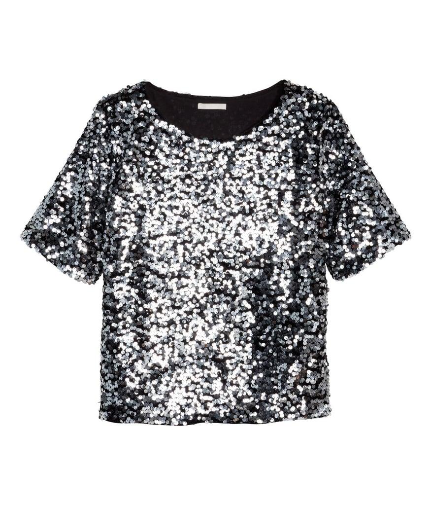 H&M Sequin Top ($35)