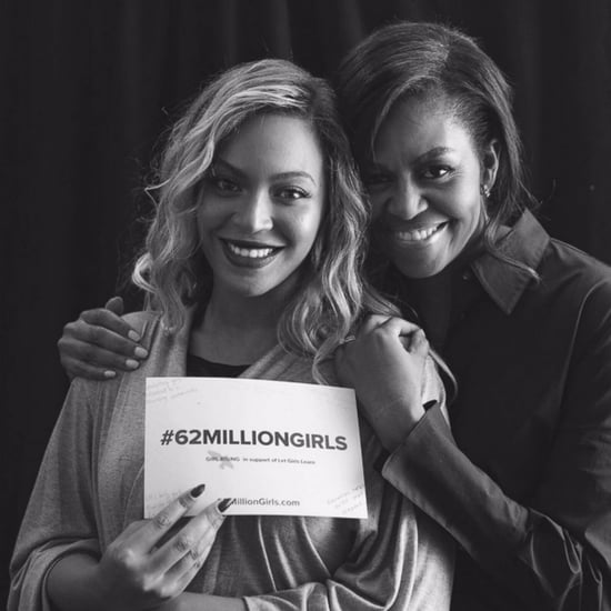 Pictures of Beyonce and Michelle Obama
