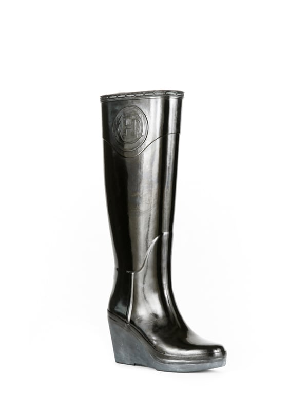 Hunter Champery Wedge Boots (in Black)