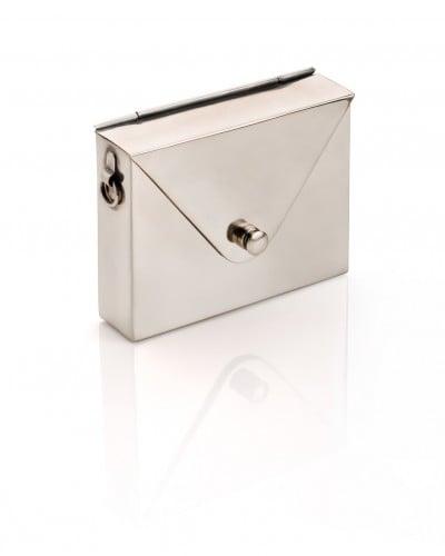Metal Envelope Bag - Silver - JewelMint