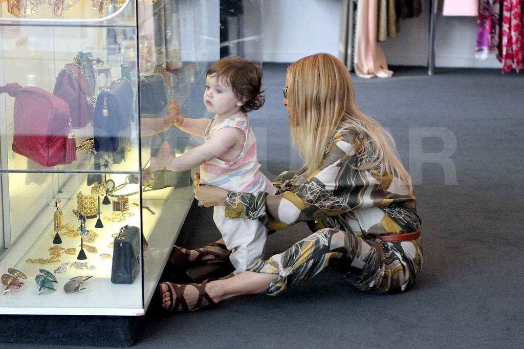 Skyler was taken by the jewelry in a West Hollywood boutique while shopping with mom Rachel Zoe.