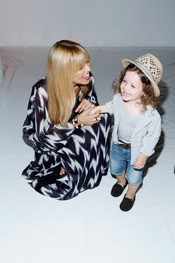 Rachel Zoe laughed with Skyler backstage.