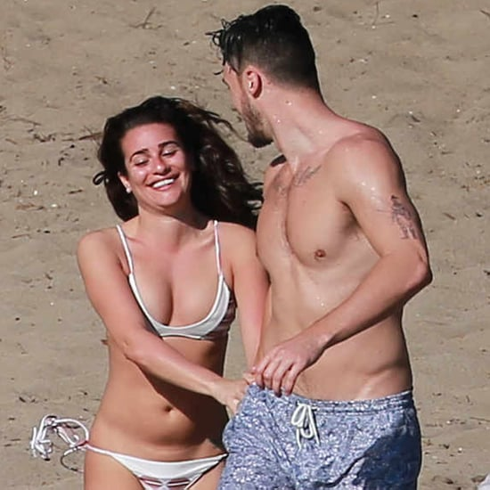 Lea Michele in White Bikini in Mexico