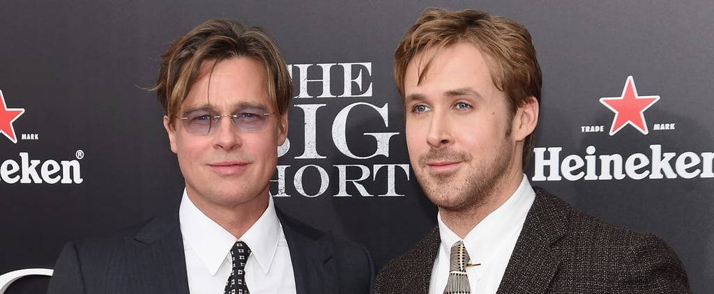 Brad Pitt and Ryan Gosling Compete For Hottest Actor on the Red Carpet