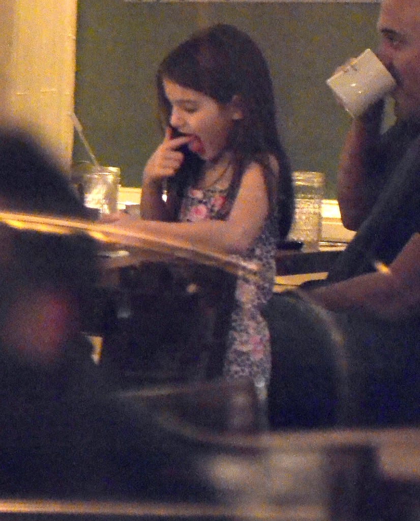 Suri Cruise had dinner with mom Katie Holmes.