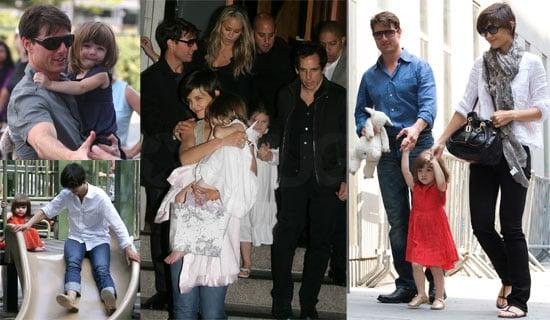 Photos of Tom Cruise, Katie Holmes, Suri Cruise, Ben Stiller, Christine Taylor in New York City