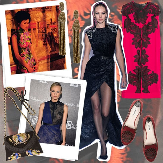 Heavily embroidered and embellished pieces inspired our Jason Wu mood board.