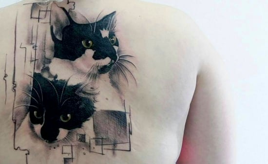 8 Extreme Cat Tattoos We Love