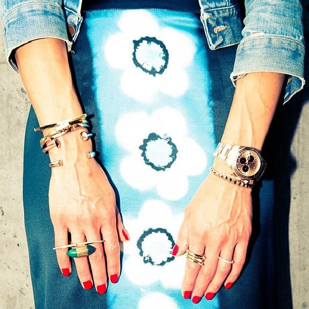 Bracelets on bracelets on bracelets. Source: Instagram user thecoveteur
