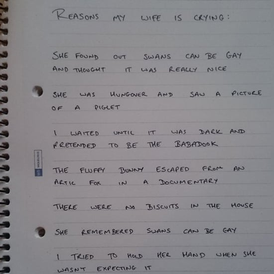 Man Writes Down Reasons His Wife Cries