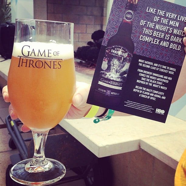 """The Game of Thrones Black Stout: """"As dark, complex, and bold as the men of the Night's Watch."""" Tasty."""