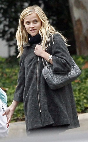 Reese Witherspoon Walking in LA with a Gray Chanel Handbag