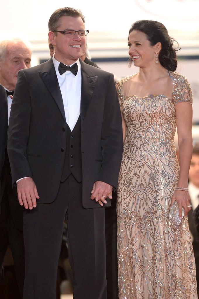 Matt Damon and Luciana Barroso in 2013