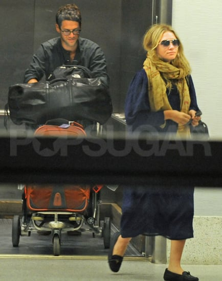 Pictures of Ashley Olsen and Justin Bartha Arriving at LAX