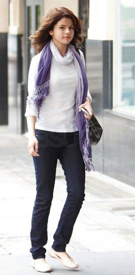 Selena Gomez Wears Paige Premium Denim Eclipse Jeans