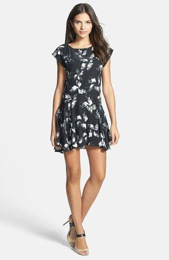 Halston Cap Sleeve Dress ($345)