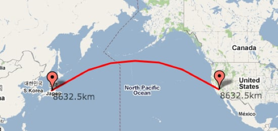Find Out the Distance Between Two Points With a Google Map Mashup