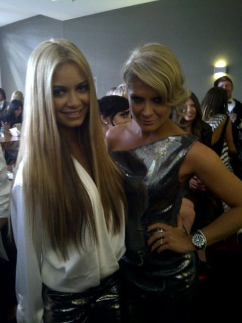 DJ Havana Brown and Natalie Bassingthwaighte smiled for the camera. Twitter User: natbassing
