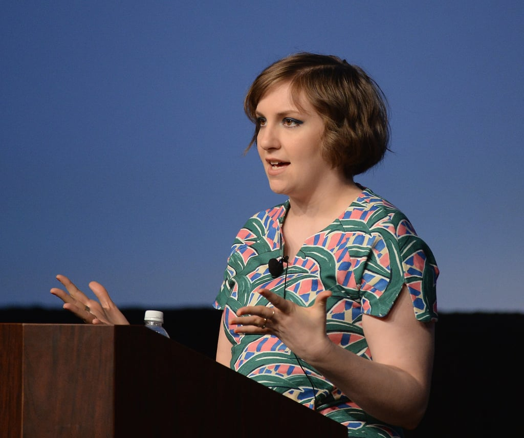 Lena Dunham spoke during the Film Keynote on Monday.
