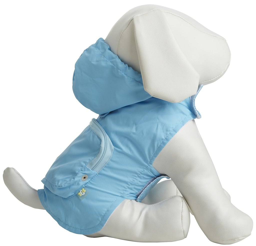 The Fab Dog pocket travel raincoat ($32) fits securely and folds up into a travel pouch when it's not in use. And it comes in a rainbow of colors to suit your pup's every whim!