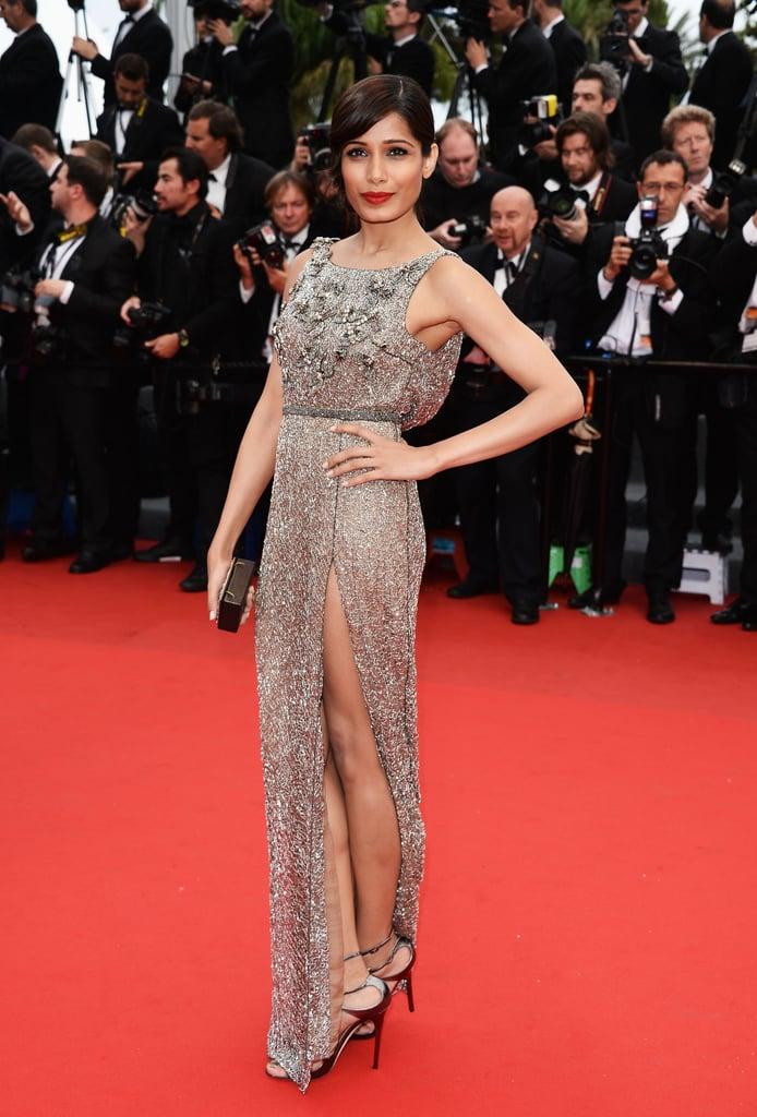 Freida Pinto at the Cannes premiere of Jeune & Jolie.