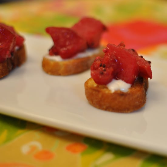 Recipe For Crostini With Orange, Pear, and Cranberry Mostarda