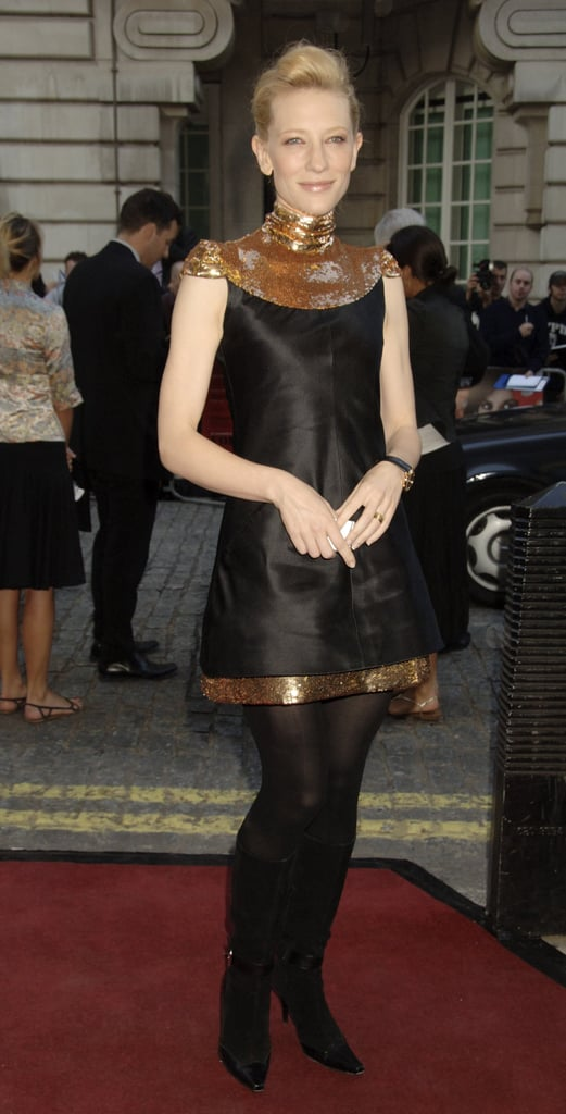 Cate Blanchett in Chanel at the 2006 UK Premiere of Volver